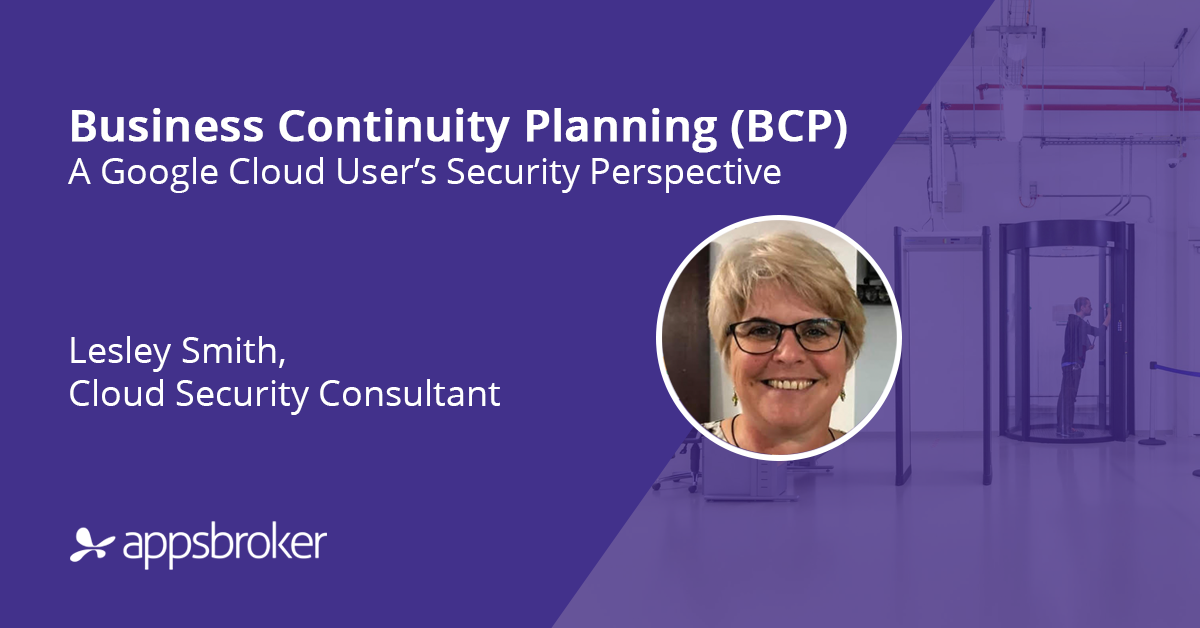 Business Continuity Planning (BCP) on Google Cloud